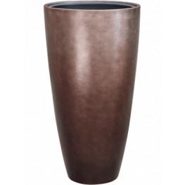 Kvetináč Metallic Silver leaf Partner matt coffee hnedý (s vnútrom) 40x75 cm