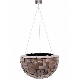 Oceana pearl hanging bowl brown 33x20 cm
