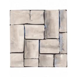 Oceana Steel sample plate stainless 20x20x2 cm