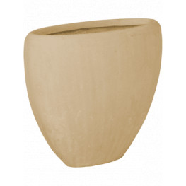 Polystone oval natural 38x18x30