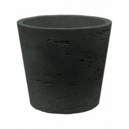 Rough mini Bucket S black washed Mini 14x12 cm