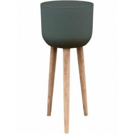 Refined Retro with feet Landon pine green 36x86 cm