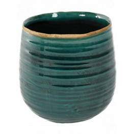 Indoor Pottery Pot Iris turqoise 15x14 cm