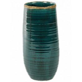 Indoor Pottery Pot Iris turqoise 12x26 cm