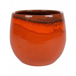Indoor Pottery Pot Charlotte Orange 23x20 cm
