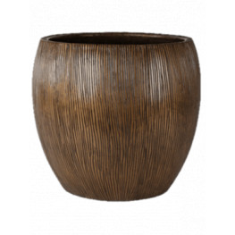 Twist pot bronze 42x39 cm