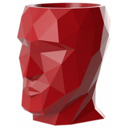 Adan Nano Lacquered Red (hlava) 17x13x18 cm