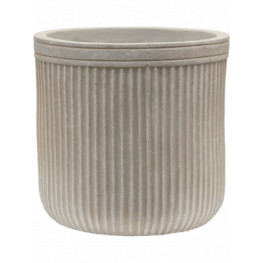 Vertical Rib Cylinder Beige 23x24 cm