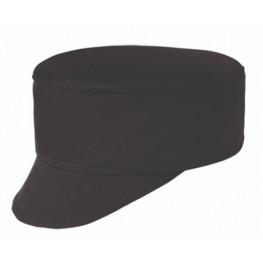 Kuchárska čiapka so šiltom - čierna