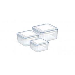 Tescoma dóza FRESHBOX 3 ks, 1.2,2.0,3.0 l , štvorcová