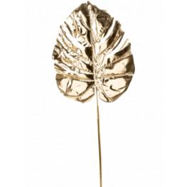 Monstera Leaf gold umelý zlatý list 72 cm
