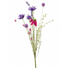 Field Flower Branch Purple 50 cm