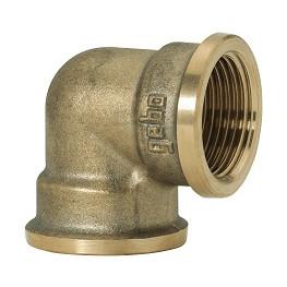 "GEBO Gold - Ms Koleno 90° F/F 3/8"", G90-03BR"