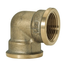 "GEBO Gold - Ms Koleno 90° F/F 1.1/2"", G90-08BR"