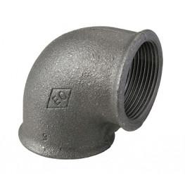 """HD Čierny fiting - Koleno 90 F/F 1/4"""", 09001001"""