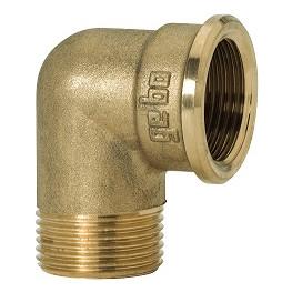 "GEBO Gold - Ms Koleno 90° M/F 1"", G92-06BR"