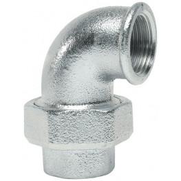 """GEBO Platinum 96 Rohové šróbenie 90° F/F s kónickým tesnením 1.1/2"""", 96-08V"""