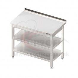 Pracovný stôl s dvoma policami 1200x600x850mm