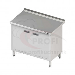 Pracovný stôl krytovaný - krídlové dvere 800x700x850mm