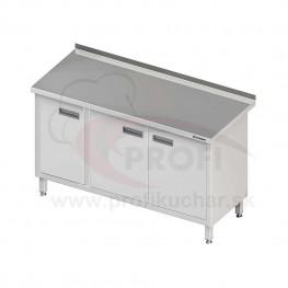Pracovný stôl krytovaný - krídlové dvere 1300x700x850mm