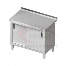 Pracovný stôl krytovaný - posuvné dvere 1400x600x850mm