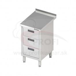 Pracovný stôl so zásuvkami -posuvné dvere 1800x700x850mm