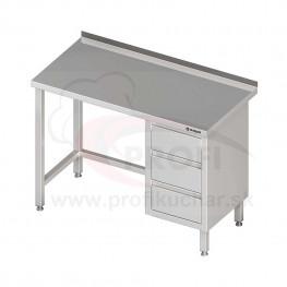 Pracovný stôl so zásuvkami - bez police 1300x700x850mm