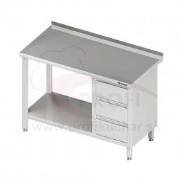 Pracovný stôl so zásuvkami - s policou 800x600x850mm