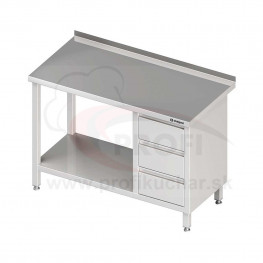 Pracovný stôl so zásuvkami - s policou 1600x600x850mm
