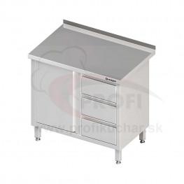 Pracovný stôl so zásuvkami krytovaný - s policou 1900x600x850mm