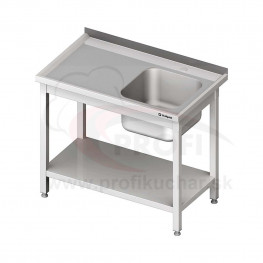 Umývací stôl s dvojdrezom - s policou 1800x700x850mm