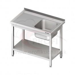 Umývací stôl s drezom - s policou 1300x600x850mm