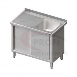 Umývací stôl krytovaný s drezom - krídlové dvere 1500x700x850mm
