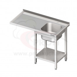 Umývací stôl s priestorom pre podstolovú umývačku – LAVÝ 1400mm