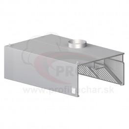 Nástenný odsávač pary - hranatý 2100x900x450mm
