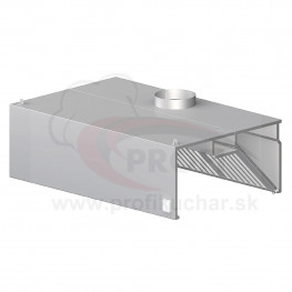 Nástenný odsávač pary - hranatý 2500x900x450mm