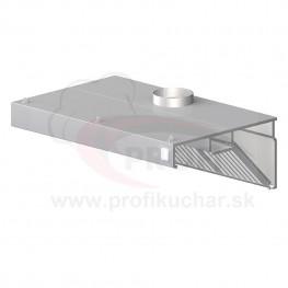 Nástenný odsávač pary - kosený 2800x800x450mm
