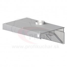Nástenný odsávač pary - kosený 2600x900x450mm