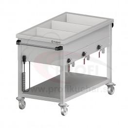 Ohrevný vozík s delenými vaňami – 3 GN