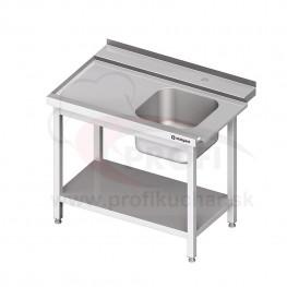 Vstupný stôl k priebežnej umývačke STALGAST – LAVÝ 1300mm