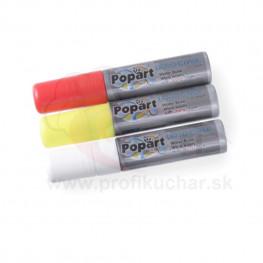 Kriedové zvýrazňovače STALGAST® široké 15mm - červená, žlltá, biela