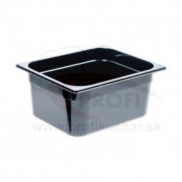 GN nádoba 1/2-100mm, čierný polykarbonát