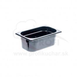 GN nádoba 1/4-100mm, čierný polykarbonát
