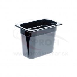 GN nádoba 1/4-200mm, čierný polykarbonát