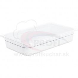 GN nádoba 1/1-100mm, bielý polykarbonát