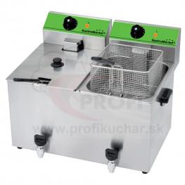 Stolová fritéza GastroMarket s ventilom, 2 x 8 l
