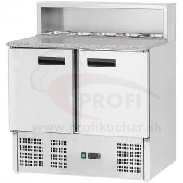 Dvojdverový pizza stol GASTROMARKET® 5 x GN1/6