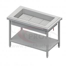Neutrálny izolovaný stôl na ľad na 2x GN1/1