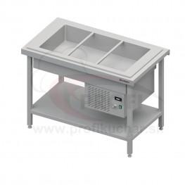 Chladený výdajný stôl na GN nádoby na 2x GN1/1