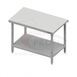 Neutrálný výdajný stôl s policou - 1500x710x880mm - bez obkladu